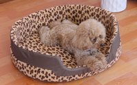 Cheap New 2015 Leopard Dog House Fashion Leopard Style Cats Pets Beds For Puppy Dog Small Pets Beds Cats House Brand Pets Home