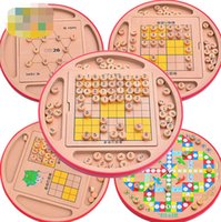 Wholesale Children intelligence multi function Sudoku game Flying chess Adult child parent game wooden toys kinds of play