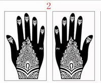 airbrush pictures - reusable henna tattoo stencil temporary airbrush painting hand finger pictures designs templates