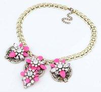 Wholesale Fashion Luxury Choker Acrylic Necklaces Statement Women Alloy Necklace Pendants Jewelry Vintage Choker Accessories