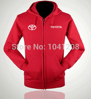 Wholesale TOYOTA winter jackets clothes auto TOYOTA pullover sweatershirt cardigans S XXL size colours zipper jacket