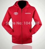 Wholesale TOYOTA winter jackets clothes auto TOYOTA pullover sweatershirt cardigans S XXL size colours zipper jacket