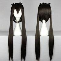 azusa wig - 2014 Fashion Princess K ON Nakano Azusa Black Two Braids Long Straight Cosplay Wig