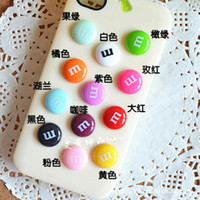 bean beauty - Ultra popular Fun M Chocolate beans mobile beauty diy jewelry accessories resin material