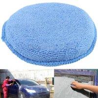 Wholesale 1pcs Blue Microfiber Foam Sponge Polish Wax Applicator Pad Mat For Car Home Cleaning