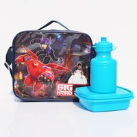 Wholesale Big hero baymax Nylon Lunch bags For children with box dandys