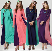 Wholesale The new Muslim women s clothing Chiffon dress Bohemian dress The hui nationality long dress Chiffon even Bohemian dress