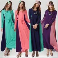 Wholesale The new Muslim women s clothing Chiffon dress Bohemian dress The hui nationality long dress Chiffon even Bohemian dress