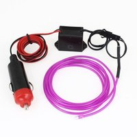 Wholesale M Flexible Neon Light Glow EL Wire Rope Tube Car Dance Party Controller Purple