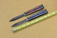 Wholesale BM BK32 Balisong Knife Blue Red Stainless Steel Butterfly Knife EDC tactical knife knives