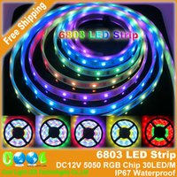 Wholesale Dream Magic Color RGB Digital LED Strip DC12V LED m IP67 Waterproof Intelligent LED Strip