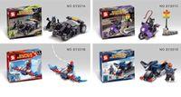 batman model car - SY201 Superheroes Batman Catwoman Nick Fury Spider man with Cars Building Block Sets Model Minifigure Bricks set