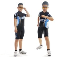 Anti Shrink kids bike bicycle - Boys Summer Short Sleeve Bike Cycling Sets Bicycle Shorts and Jersey Riding Clothes Cycling Clothing For Kids