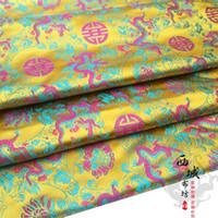 brocade fabric - Her clothing Han Chinese clothing costume dress fabric silk brocade fabrics COS High yellow Rose Xilong
