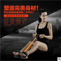 Wholesale 300pcs CCA3572 High Quality Colors Foot Hand Portable Pedal Exerciser Body Building Resistance Band TPR Tube Pull Exerciser With Pedal