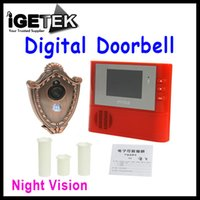 Wholesale 2GB Digital Peephole Doorbell M Night Vision Video Record Home Security Red freeshipping Dropshipping