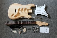 Semi-Hollow Body guitar parts - Project unfinish electric guitar kit with all parts