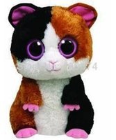 beanie boos nibbles - New Original TY Beanie Boos Big Eyed Stuffed Animals Nibbles the Guinea Pig Plush Toys For Children Baby Gifts CM