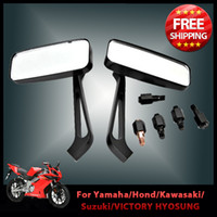 Wholesale Pair Motorcycle Rear view Side Mirror Motorbike Chopper Cruiser for Kawasaki Vulcan Voyager XII Versys KLR250 order lt no t