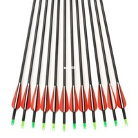 Wholesale Carbon Arrow set quot Archery Arrows with Changeable Arrowheads and Plastic Feathers for Hunting and Shooting
