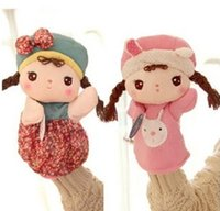baby doll accessories lot - Baby Christmas Gifts Cute Roxy Angela Girl Modelling Kids Plush Dolls Children Plush Hand Puppet Toys Doll Hieght cm T1180