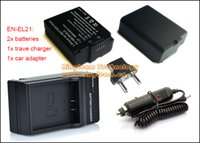 Wholesale ENEL21 EN EL21 Battery and Charger for Nikon V2 V2 Camera Items in a x EL21 Batteries x Charger x Car Adapter