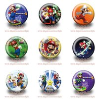 Wholesale Hot selling cm inch Super Mario Brothers badges Hot cartoon fashion Button pin badge Kids party gift