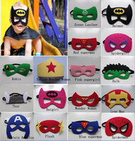 Wholesale 90 designs Superhero masks Batman Spiderman Hulk Thor TMNT Ninja Transformer Bumblebee mask Halloween Party Supplies for Kids A15012901