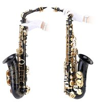 Wholesale Top Quality bE Alto Saxphone Brass Lacquered Gold E Flat Sax Z Key with Cleaning Brush Cloth Gloves Cork Grease Strap Case order lt no tra