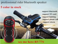 Wholesale 2015 New Arrival see me here RV77S bluetooth multi function rider speaker with light TF card portable speaker for bycicle