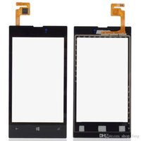 screen glass - Black In front of the LCD screen touch digitizer glass lens for Nokia Lumia B0264