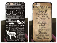 Silicone arrival map - Harry Potter Hard PC Case for iphone S Plus S Hogwarts Map Words Plastic Marauders Back Cover Skin Shell Retro Hot Arrival