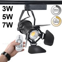 Wholesale COB Track light W brightness adjustment spotlight Remote control lamp Factory Warm White
