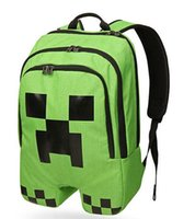 Wholesale School Bags Minecraft Backpack Game My World Top Quality Kids Boys Mochila Double Shoulder Bag Block Coolie Strange PVC Waterproof