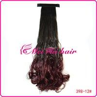 Wholesale Mawei pat circle color gradient color gradient pear volume ponytail light brown ponytail dyed purple gradient