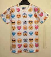 clothing men women - Hot fashion emoji t shirt hot style emoticons tshirt summer funny clothes unisex women men top tees t shirt