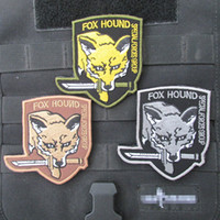 metal badges military - Embroidered Velcro patch armband custom stickers Metal Gear Solid foreign armies Chapter colors military patches badges Z00728