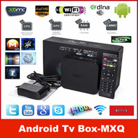 Wholesale Quad Core MXQ Android Media Player Smart TV Box Amlogic S805 MXQ IPTV TV Box With XBMC KODI Fully Loaded Update MX TV Box