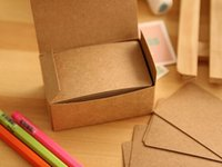 Wholesale 100piece per box New blank kraft paper message card Notepad memo pads label marker piece per box
