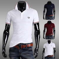 Wholesale Big Discount Purple Men Personalize Polo Short Sleeve Cotton Slim Fit Stylish Men T shirt British Fashion Summer Men Polo Tee J160214