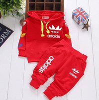 ad solid - Boys Sports Clothing Set Suit Cotton Children Clothing For Kids Tracksuit Letter Brand AD Unisex Baby Boy Girls Clothes