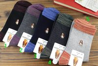 Wholesale Mens Crew Socks Business Socks Hot Mens Cotton Embroidery Crew Socks Fashion Male Breathable Comfortable Personal More Color Business Socks
