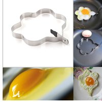 Wholesale New Practical Kitchen Pancake Stainless Steel Mould Plum Flower Shaped Cook Fried Egg Mold