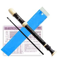 Wholesale High Quality Music Instrument Clarinet Holes Recorder Clarinet Transparent German Clarinet with Manual Cleaning Rod w Black