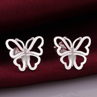 beautiful valentine - Hot selling the new Valentine gift fashion design beautiful and elegant girls sterling silver zricon jewelry earrings