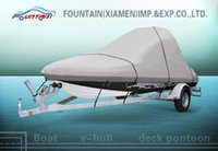 Wholesale Beige Boat Cover Durable D Polyester Fabric with PU Coating Boat Covers