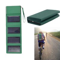 Cheap Travel Backup Power Solar Charger Power Folding Storage Bag Mobile Power Bank 4 Panel for iPhone iPad Tablet PC Digital Camera order<$18no t