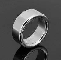 Cheap Wholesale - Latest Design Stainless steel penis ring metal cock ring male time delay ring ball stretcher sex toys for men penis