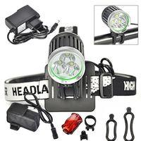 Prezzi Kit e bike-Il nuovo arrivo, 3T6 3 * CREE XML-T6 LED Bike Kit luce della bicicletta, 3800-Lumen 4-Mode, con 8.4V Battery Pack e caricabatteria, il trasporto libero