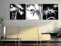 b w combination - Unique Wall B W Bamboos Canvas Great Home Decals Oil Painting Chastity Silver Wall Art Wall Decor Paintings Modern Study